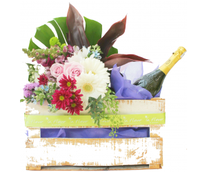 Bouquet Campestre con Vino