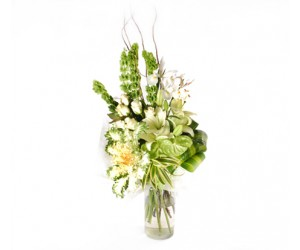 Bouquet White Ribbon