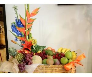Arreglo Frutal & Floral Exótico