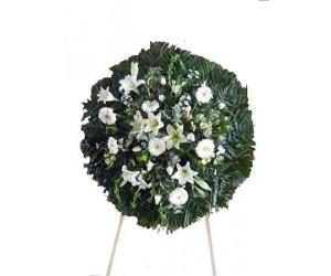 Corona con flor sencilla (Disponible en varios colores)