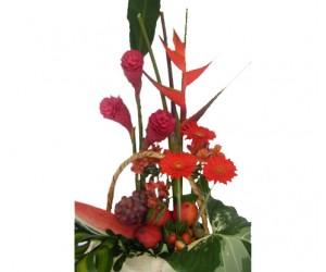Arreglo Frutal  & Floral: Pasión Roja
