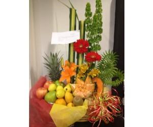 Arreglo Frutal & Floral Campestre