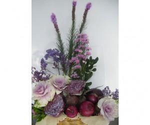 Arreglo Verduras & Flores (Morado)